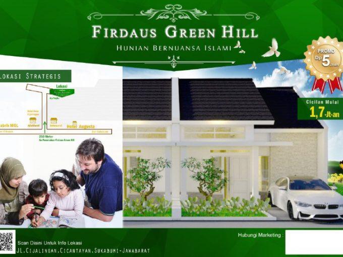 Firdaus Green Hills Tipe 36/60 (Rumah Subsidi)